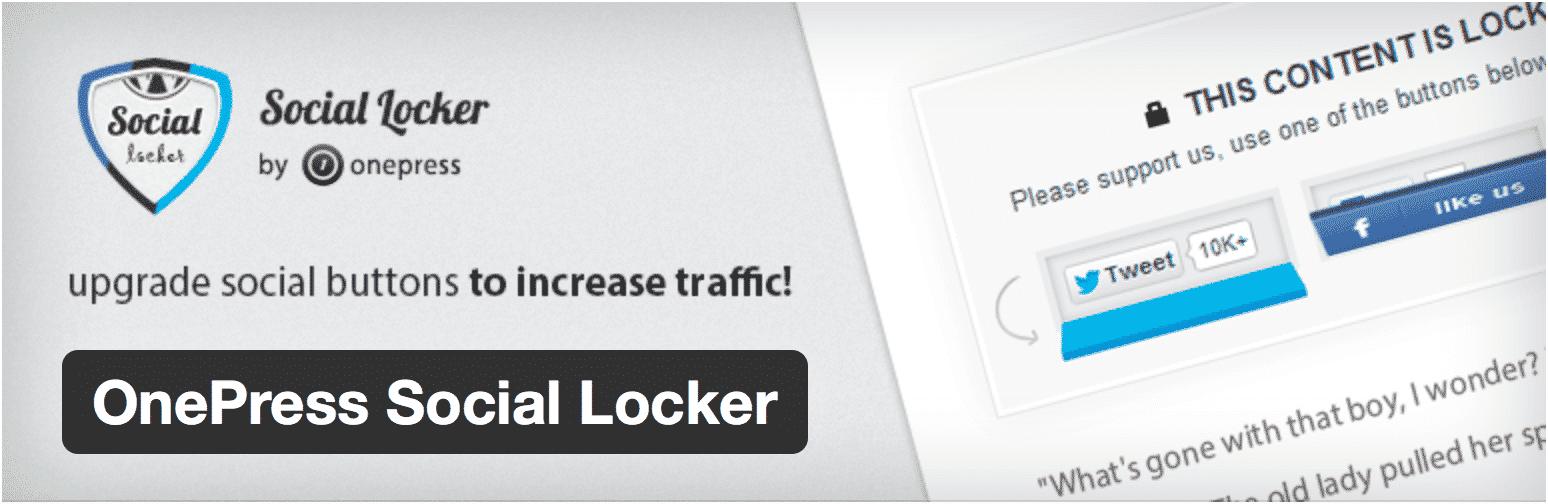 Présentation du plugin OnePress Social Locker, idéal pour augmenter son trafic