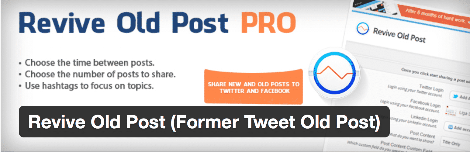 Présentation du plugin Revive Old Post