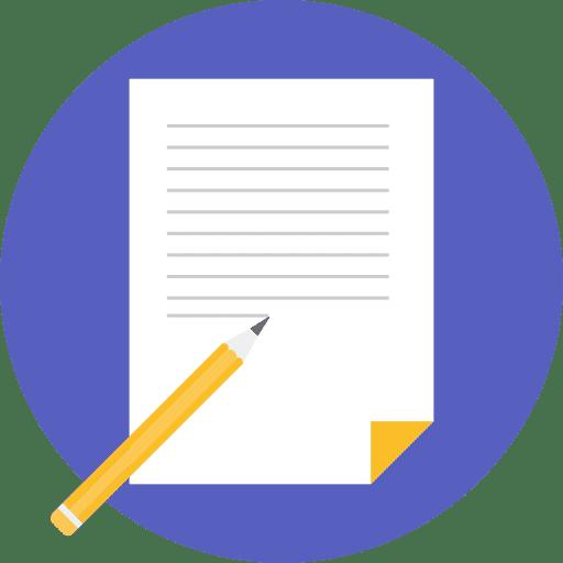 Page écrite avec un crayon