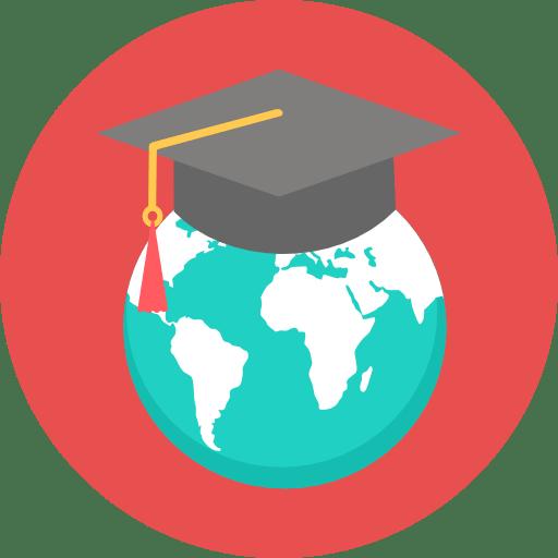 Planète avec un chapeau universitaire représentant les formations de Growth Hacking