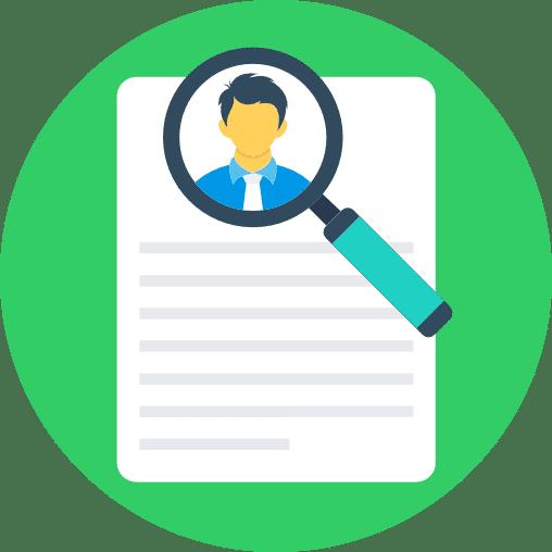 Profil sur papier d'influenceurs