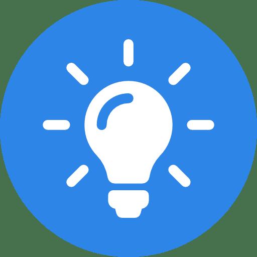 Ampoule représentant l'acquisition de nouvelle idées d'article de blog
