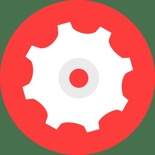 Engrenage dans un cercle de couleur