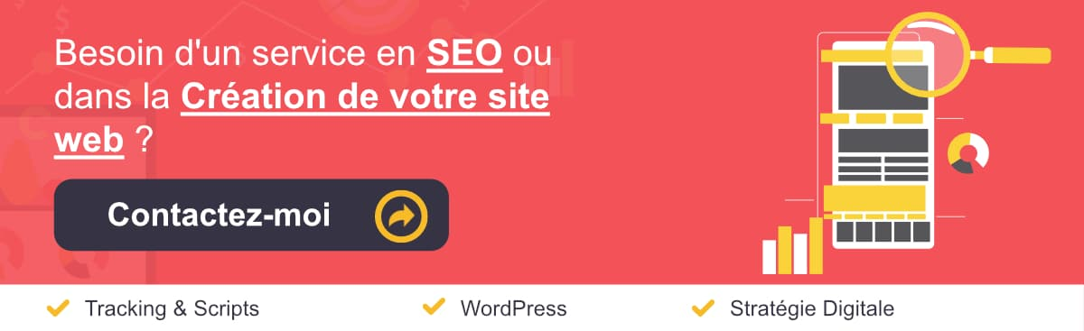 Bannière services en SEO / WordPress et Marketing digital Large